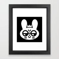 Wry Rabbit Framed Art Print