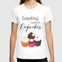 Everything Is Better Wit… Womens Fitted Tee White SMALL