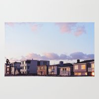 Midcentury Style Homes along the Beach, Sunset Beach, California Rug
