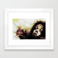 Before A Kiss Framed Art Print