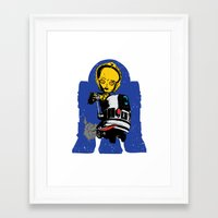 Lil' Blue Framed Art Print
