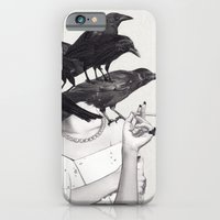 iPhone Cases featuring Neither Poor Nor Innocent  by Jenny Liz Rome