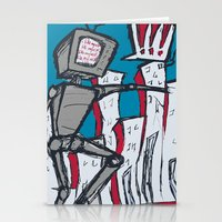 Manhattan vs. Depressed Giant Robot Stationery Cards