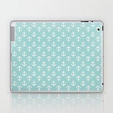 Mint Anchors Pattern Laptop & iPad Skin