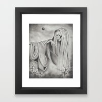 Black Blood Moon Framed Art Print