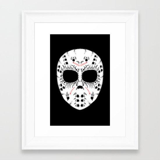 Viernes The 13Th Sugar Skull Framed Art Print