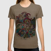 Moon Trike City Womens Fitted Tee Tri-Coffee SMALL
