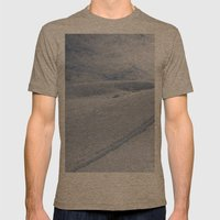 Snow Tracks Mens Fitted Tee Tri-Coffee SMALL