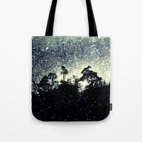 Wintery mystical landscape Tote Bag