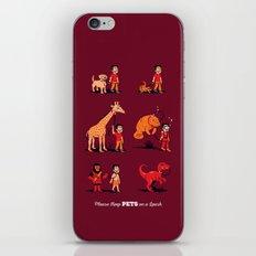 Please Keep Pets on a Leash iPhone & iPod Skin