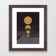 Rise of the golden moon Framed Art Print