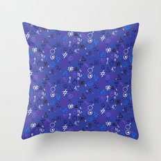 Witchcraft mystic signs Throw Pillow