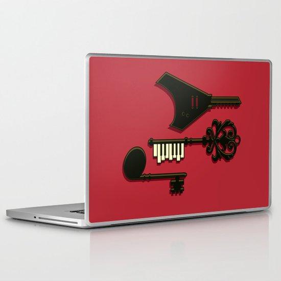 keys of musical Laptop & iPad Skin