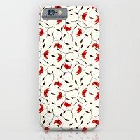 Strange Red Flowers Pattern iPhone 6 Slim Case
