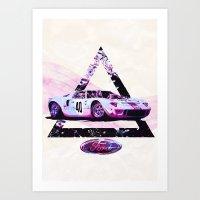 Ford Gt40// Le Mans Race… Art Print