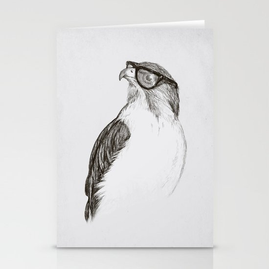 Hawk with Poor Eyesight Stationery Card