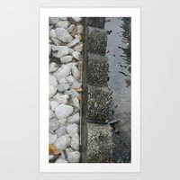 3 textures Art Print