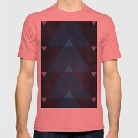 Greece Arrow Hues Mens Fitted Tee Pomegranate SMALL