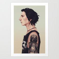 Emo Kylo Ren Art Print