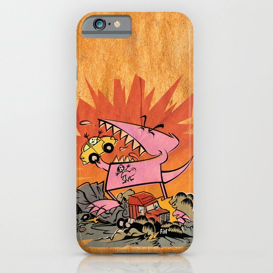 Dennis Dinosaurs's Delightfully Destructive Day. iPhone & iPod Case