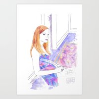 Elle Fanning, Somewhere Art Print