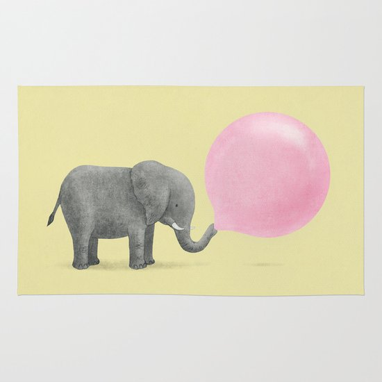 Jumbo Bubble Gum Area & Throw Rug