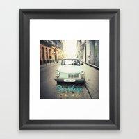 Be Vintage! Framed Art Print