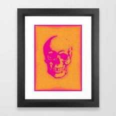 a skull Framed Art Print
