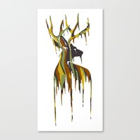 Painted Stag Canvas Print