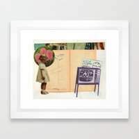 young girl Framed Art Print