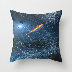 FISHING_SPLASH Throw Pillow