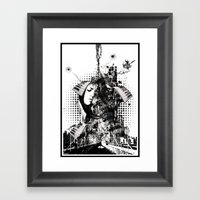 black&white Framed Art Print