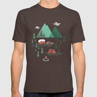 Pitch a Tent Mens Fitted Tee Brown SMALL