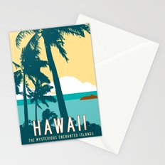 Hawaii Travel Poster Stationery Cards