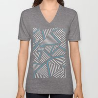 Ab Linear Inverted with Electric Unisex V-Neck