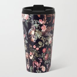 Travel Mug - Animals and Floral Pattern - Burcu Korkmazyurek