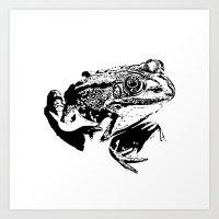 Black Frog IV Art Print