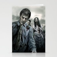 walking dead Stationery Cards featuring Zombie by Joe Roberts