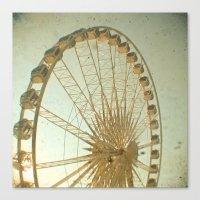 Golden Wheel Canvas Print
