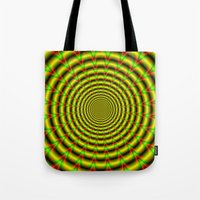 Pulse in Red Yellow and Green Tote Bag