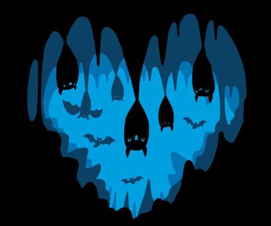 Bats Love Caves Art Print