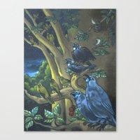 Dawn Chorus In The Prime… Canvas Print