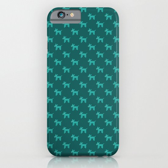 Dogs-Teal iPhone & iPod Case