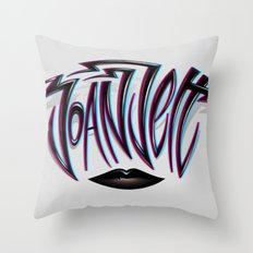 Joan Jett Tribute Throw Pillow