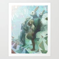 The Rabbits Are Here Art Print