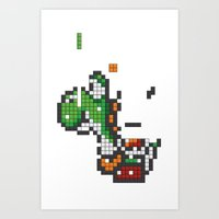 Yoshi Tetris Art Print
