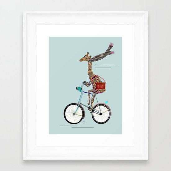 Giraffes School Days  Framed Art Print
