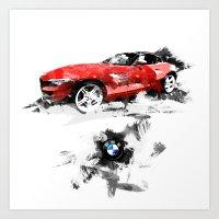 BMW Z4 Art Print