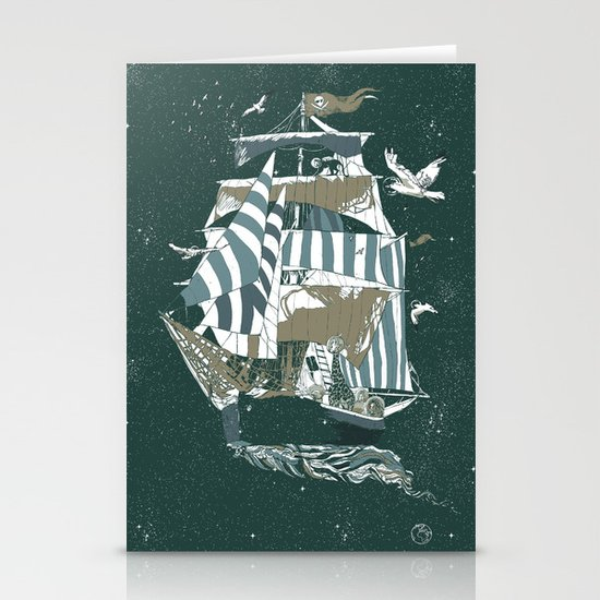 Sail to The Moon Stationery Card