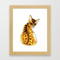 bengal kitten Framed Art Print